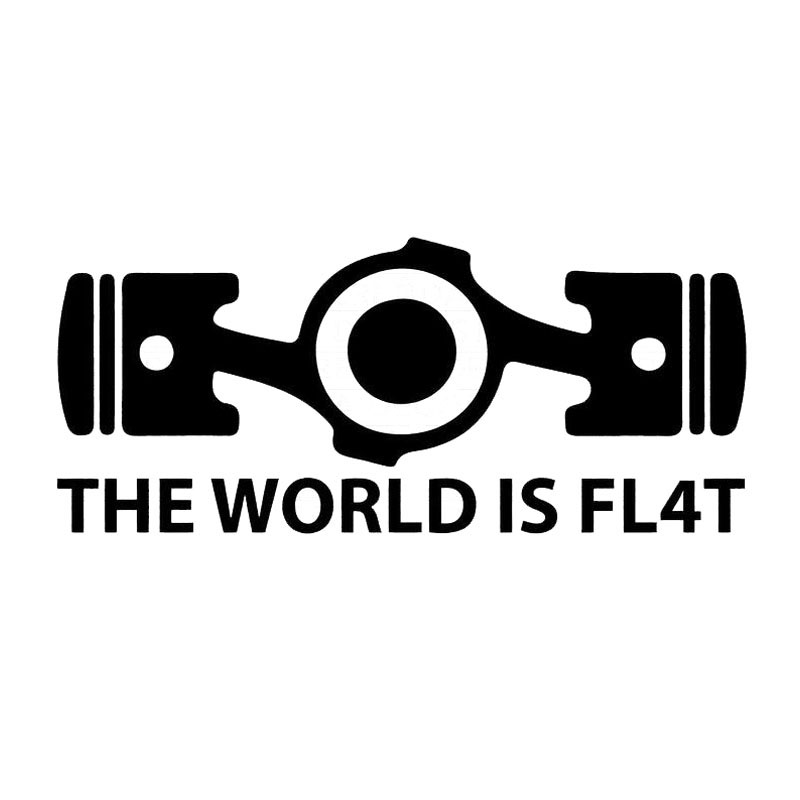 20 8 5cm the world is flat boxer engine car sticker decal