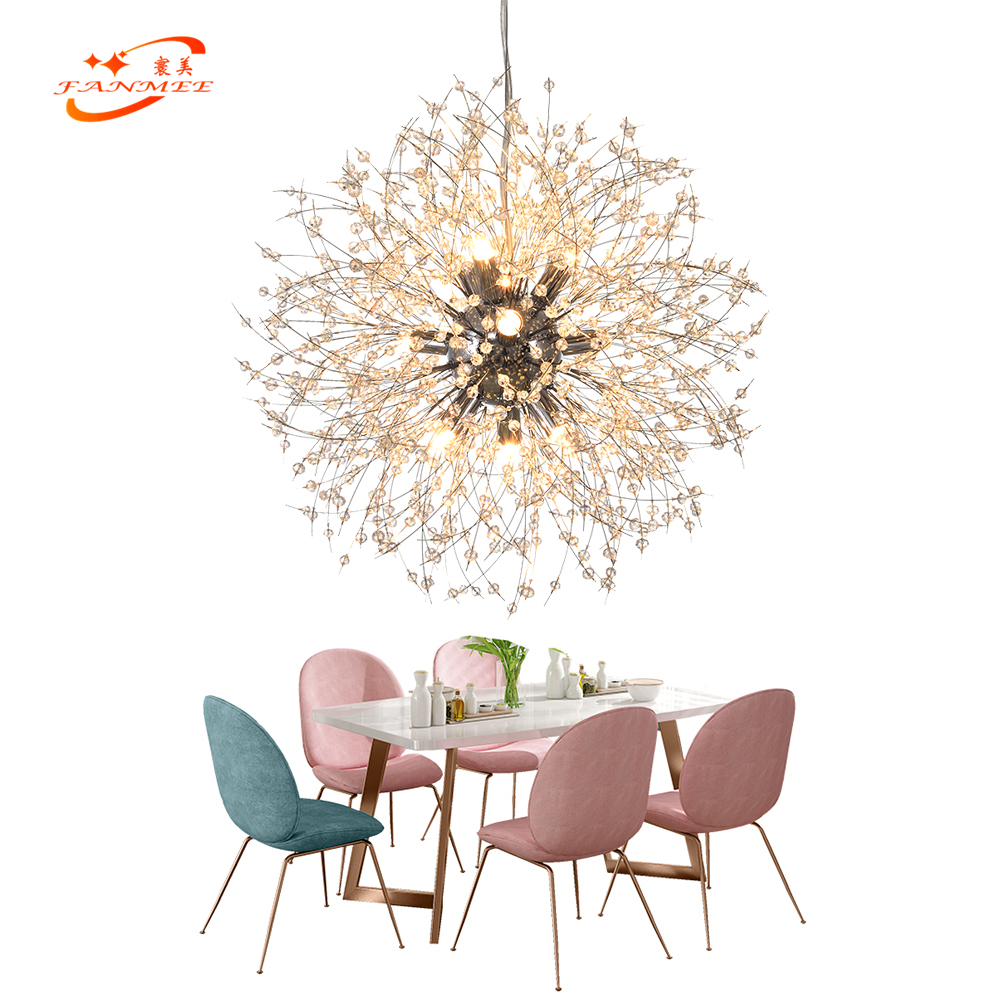 Modern LED Crystal Chandelier Light Pendant Hanging Lamp Dandelion Cristal Chandelier Lighting for Living Dining Room DecorationModern LED Crystal Chandelier Light Pendant Hanging Lamp Dandelion Cristal Chandelier Lighting for Living Dining Room Decoration
