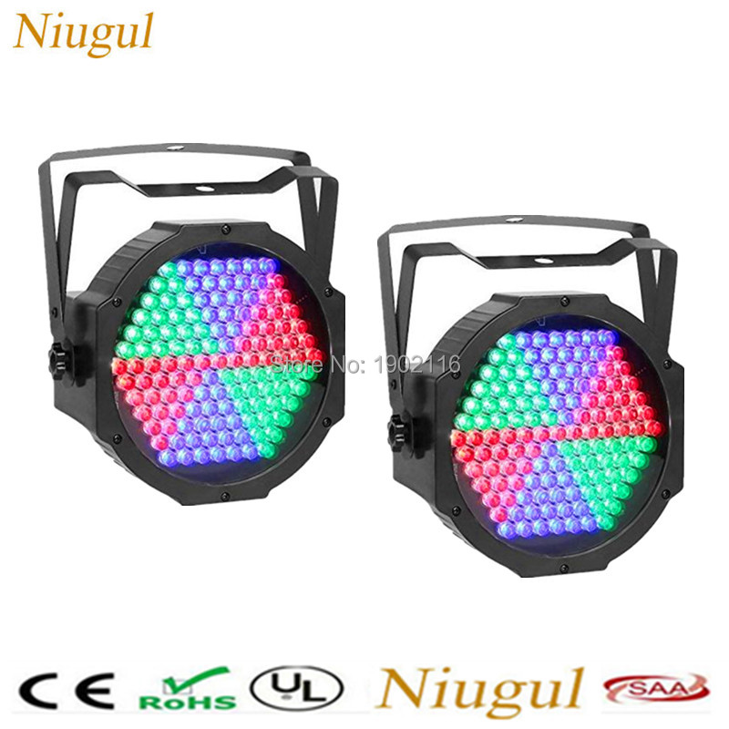 2pcs/lot 127Pcs LED RGB PAR Stage Lighting Effects DJ Disco Wash Can Lights DMX512 Strobe LED Dyed light Christmas decoration 8pcs lot 24x18w led par light rgb par64 dmx par stage lighting