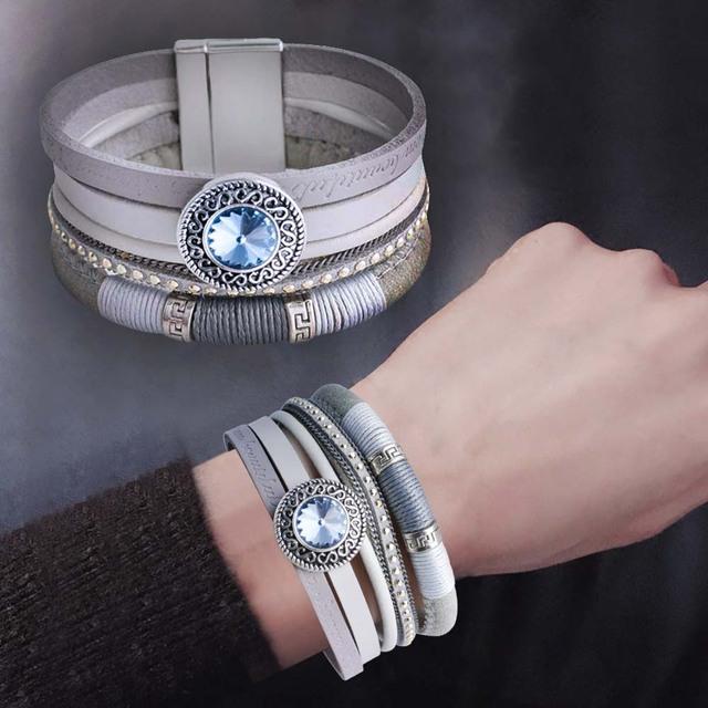 Snap Bracelets & bangles Multilayer Leather Bracelets