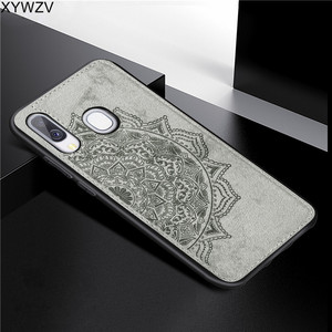Image 1 - For Samsung Galaxy A40 Case Soft Silicone Luxury Cloth Texture Hard PC Phone Case For Samsung Galaxy A40 Cover For Samsung A40