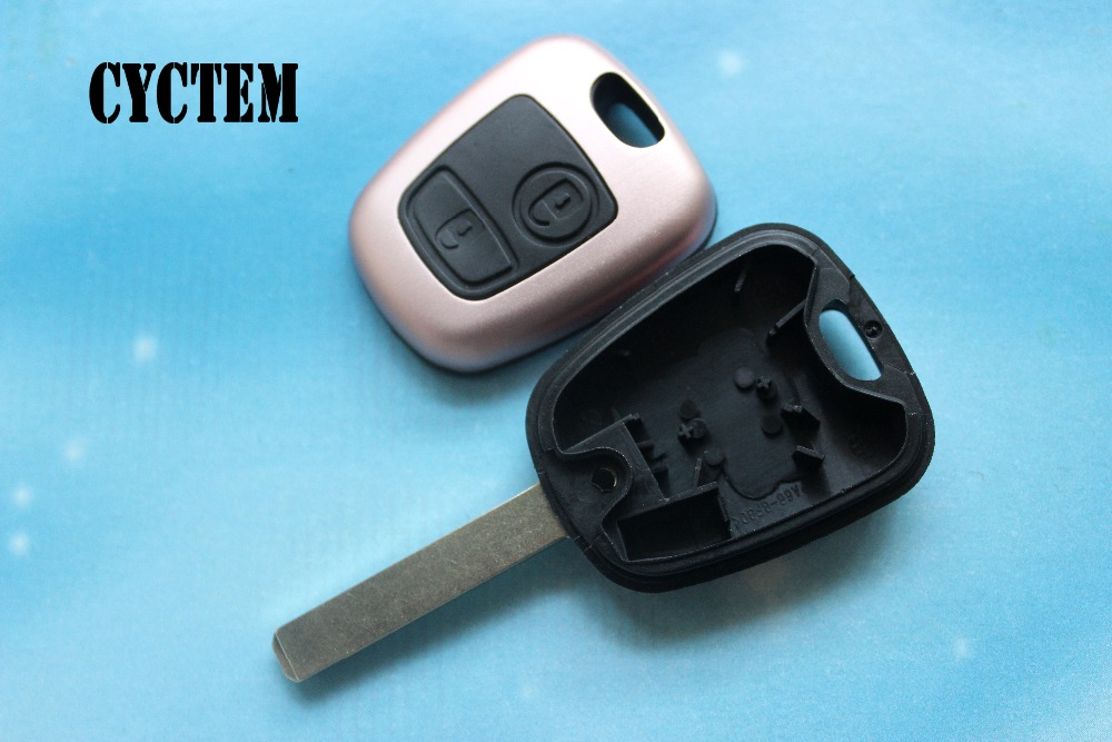 CYCTEM Car Key Shell Remote Key Cover Housing Fit For Peugeot Citroen 307 407 2 Buttons Auto Parts + Free Shipping