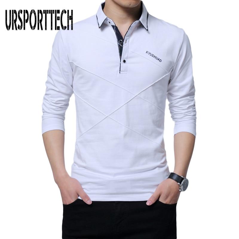 Plus Size 5XL   Polo   Shirt Men Spring Autumn Brand Men's   Polo   Shirt Long Sleeve Casual Male Shirt Mens   polo   Shirts Printed   Polos