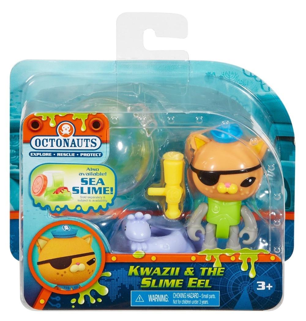 original Octonauts action figures Kwazii & the Slime EEL child Toys 6-8cm kingcamp child action 3834