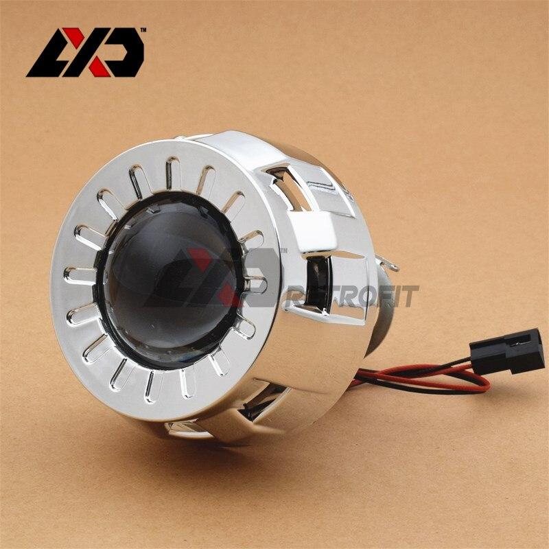 Lxd 1 pc 2 0 inch smallest micro hid mini bi xenon lens for Smallest micro projector