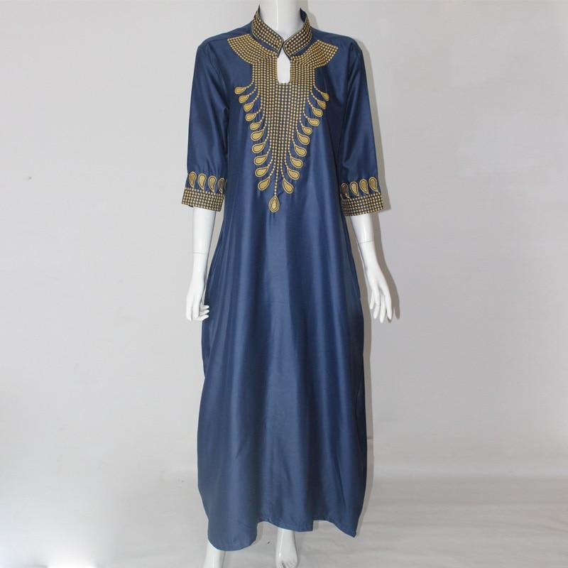 2016 Dashiki Afrikanska Bomullsklänningar För Kvinnor Top Bazin - Nationella kläder