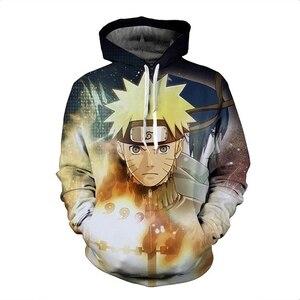 Image 3 - Anime Naruto 3D Hoodies Sweatshirt Sasuke Kakashi Cartoon Casual Harajuku Hoody NARUTO Thin Jacket Coat Streetwear Unisex