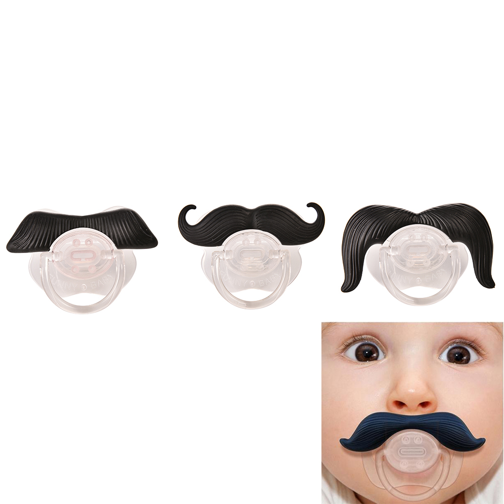 Fashion Funny Dummy Dummies Pacifier Novelty Moustache Babys Child Soother Beard Nipples Kids Gift Safe Pacifier