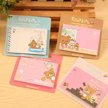 10 pcs/Lot Rilakkuma sticky notes Self-adhesive paper memo pad Korean stationery Office School supplies material escolar DM648