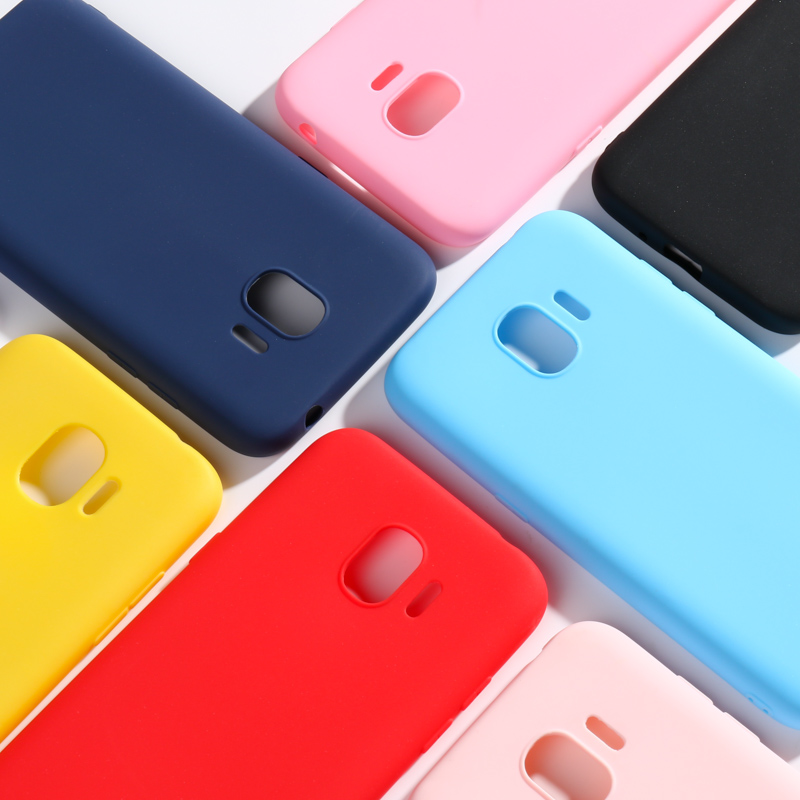 Silicone Case for Samsung J2 2018 Cases for Samsung Galaxy J 2 J2 2018 SM-J250F/DS J250 Case Soft Candy Color Phone Covers Funda