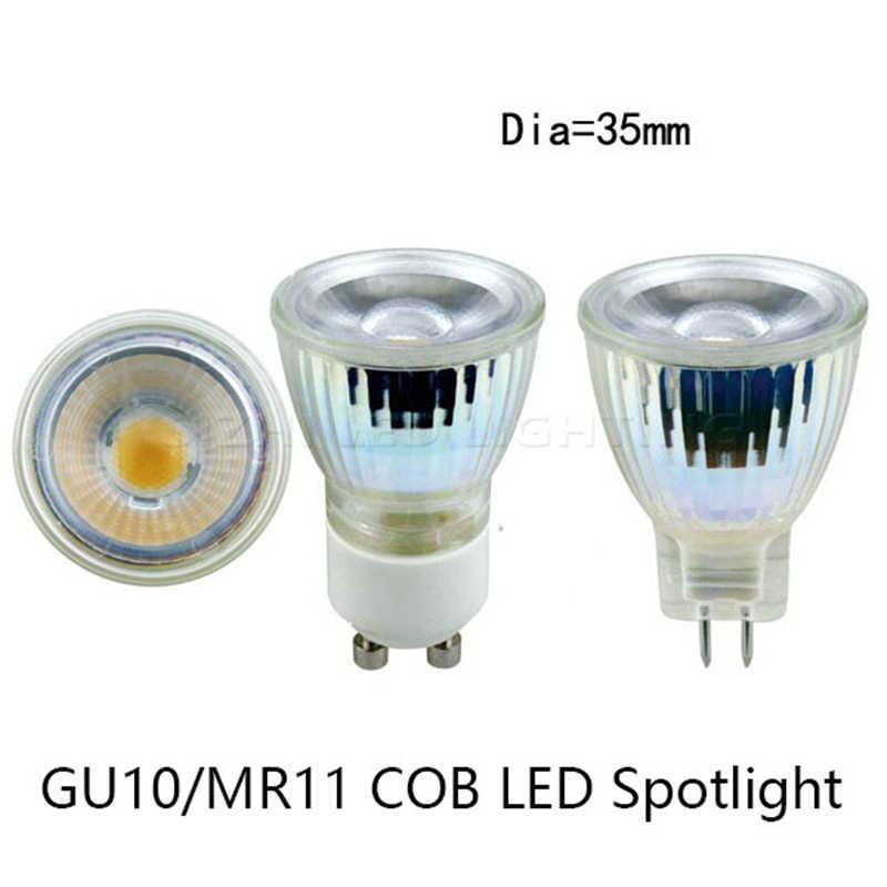 1/5/10X Glass 12V 220V MR11 COB LED Lamp 5W LED Spotlight Bombillas Dimmable LED Bulb Cool/Warm White 220V MR11 SMD3014 led lamp