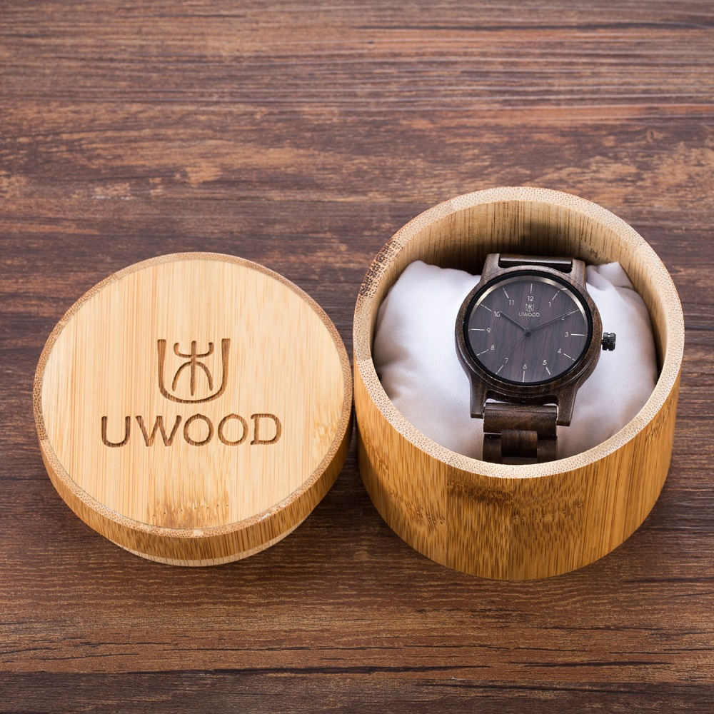 Fashion The Original Ecological Nature Wooden Wrist Watch Analog Sport Black Wood Watches Luxury Watch brand For Men Women Gift yisuya fashion nature wood wrist watch men analog sport bamboo black genuine leather band strap for men women gift relogio clock page 2