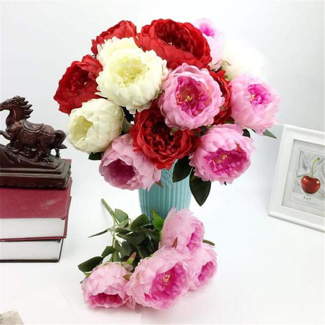 Aliexpress.com  Beli 6X Peony Bunch (5 kepala piece) 8 Warna Bunga ... 80379031fd