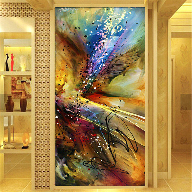 PSHINY 5D DIY Diamond embroidery sale stripes abstract Art Picture ...