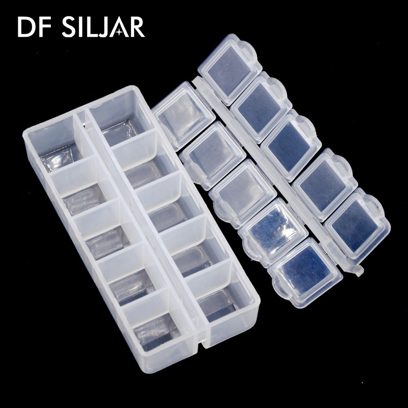 Wholesale 4pclot 10 Slots Plastic DIY Hanging Jewelry Organizer And