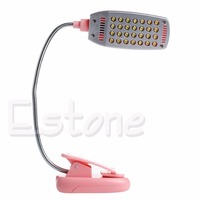 1PC Flexible USB 28 LED Light Clip On Beside Bed Table Desk Reading Book Lamp