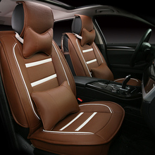 3D Styling Car Seat Cover For Mitsubishi Lancer Galant ASX Pajero sport V73 V93 V95 V97,High-fiber Leather,