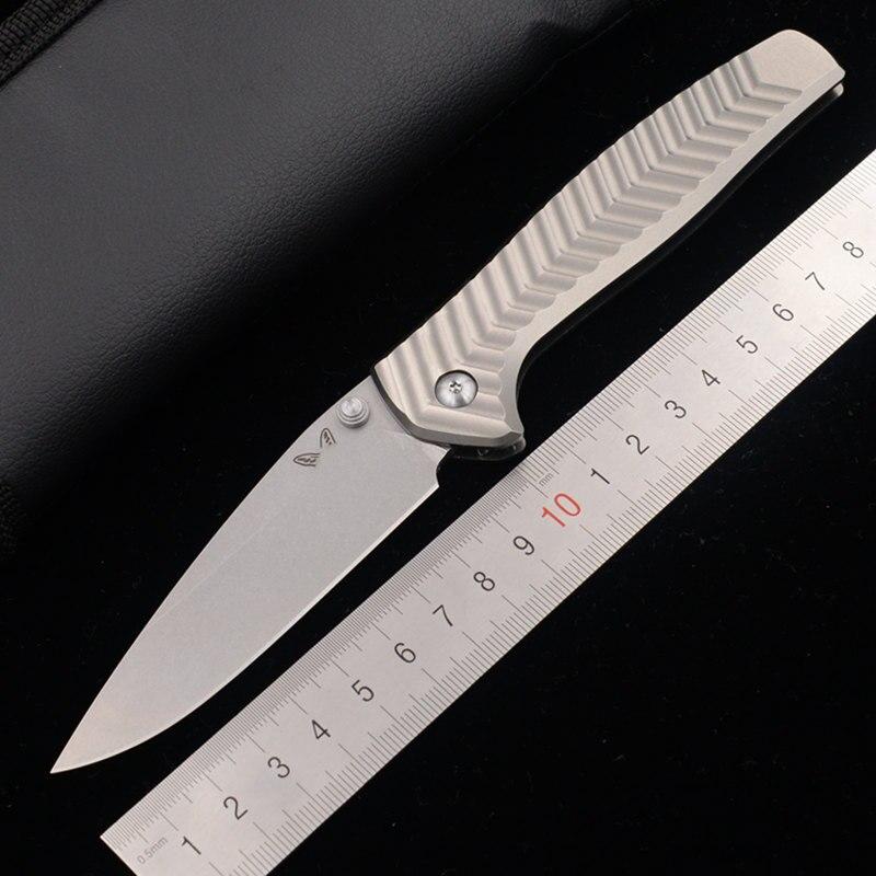 JUFULE Limited Made 781 20CV Steel Aluminum Handle Ball Bearing Camping Pocket Survival Hunting Outdoor EDC Tool Kitchen  Knife
