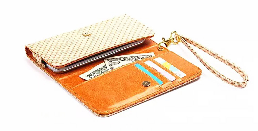 Lady Hand Strap Synthetic Mobile Phone Leather Case Card Wallet Pouch Bags For Zopo Color C2, C3, F3,Color F5,Flahs S, Flash C