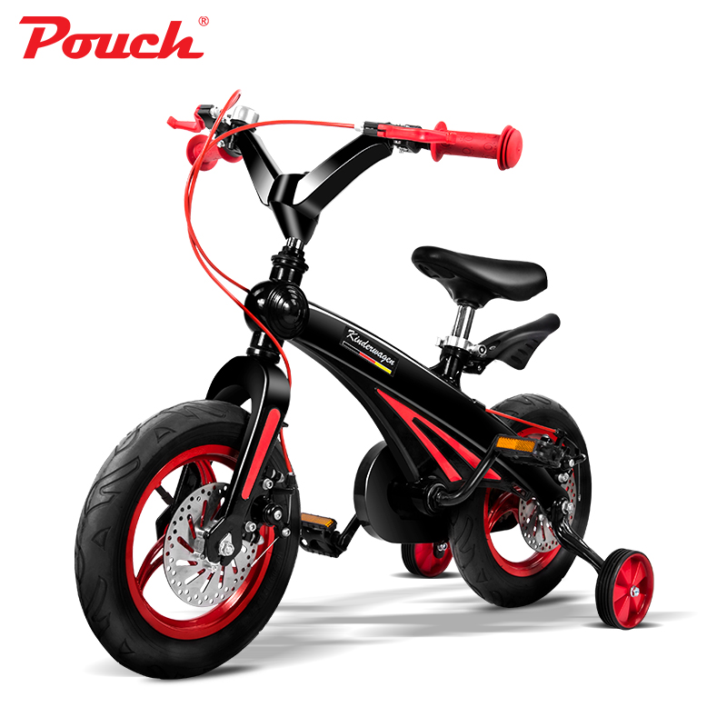 POUCH children bicycle high quality bike lightweight  aluminium alloy integral moulding frame for kids to ride
