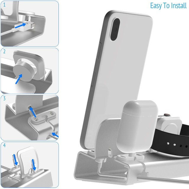 Aluminum 3in 1 charging dock for i