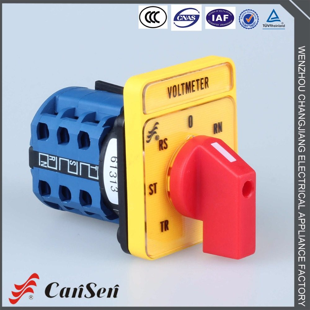 Online Shop Ca10 Rotary Cam Switch 20a Voltmeter Selector Yh5 Wiring Diagram 3 Red Handle Yellow Plate