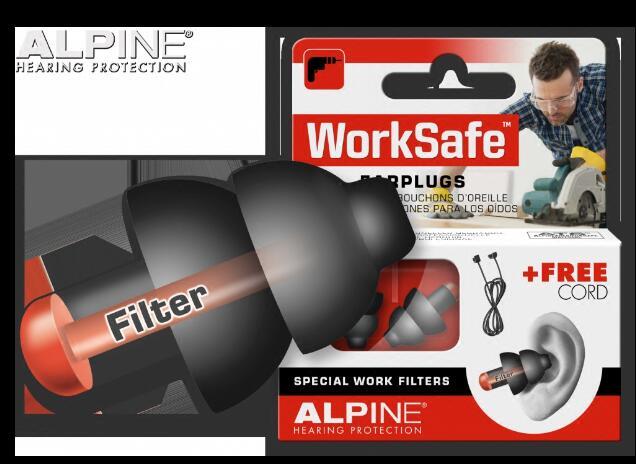 Alpine Worksafe Working Earplugs Hearing Protection Earplug Anti Noise Ear Plugs Comfortable