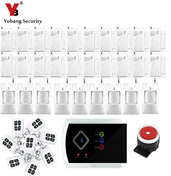 Yobang Security-Wireless Alarm Systems Security Home Russian English Voice Auto dial 433Mhz APP Remote Control GSM Alarm System yobang security english russian voice home alarm app gsm alarm system 99 wireless zones wireless wired house alarm smart home