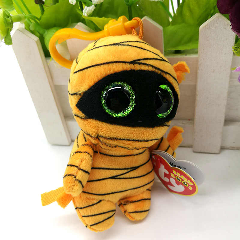 856219424ee ... Ty Beanie Boos Plush Toy Mask Mummy Clip Small Pendant Cute Stuffed  Doll Kids Birthday Gift ...