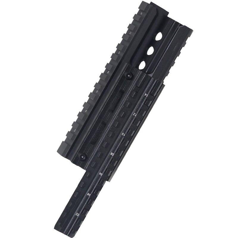 Chasse Tir AK 47 & 74 RIS Quad de bâti de Rail Tactique Quad Garde Rail avec 12 pièces Universel Rail Picatinny Couvre Noir