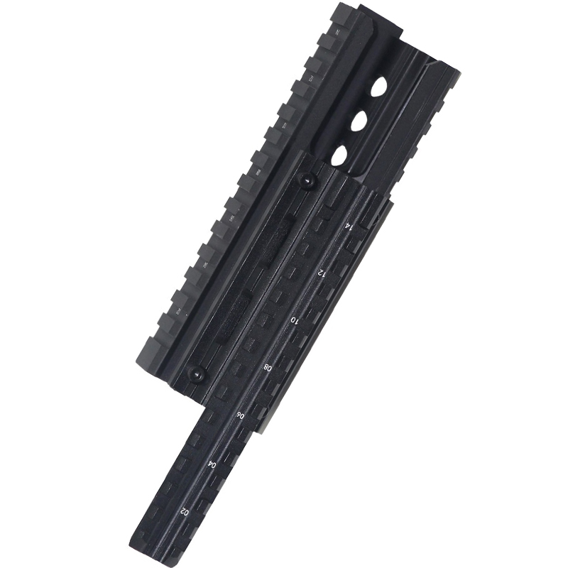 Hunting Shooting AK 47 & 74  RIS Quad Rail mount Tactical Quad Handguard Rail with 12pcs Universal Picatinny Rail Covers Black ak 47 tactical quad rail picatinny handguard system cnc aluminum full length tactical for ak rifles 26cm hunting gun accessories