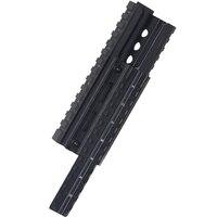 Hunting Shooting AK 47 & 74 RIS Quad Rail mount Tactical Quad Handguard Rail with 12pcs Universal Picatinny Rail Covers Black