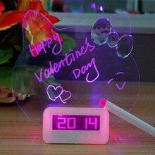 Blau Rot LED Fluoreszierende Digitale Wecker Nimmt Snooze Digitale Uhr Mit Kalender Nacht Despertador Tischuhr Eine