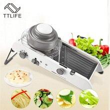 Accesorios de herramientas de cocina multifunción, cortador de verduras Manual, cortador de mandolina ajustable, rallador de tomate profesional, Gadgets