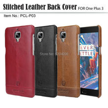 Pierre Cardin Genuine Leather 2016 Luxury Cell Phones Case For One Plus 3 Case Oneplus 3 Case Back Cover