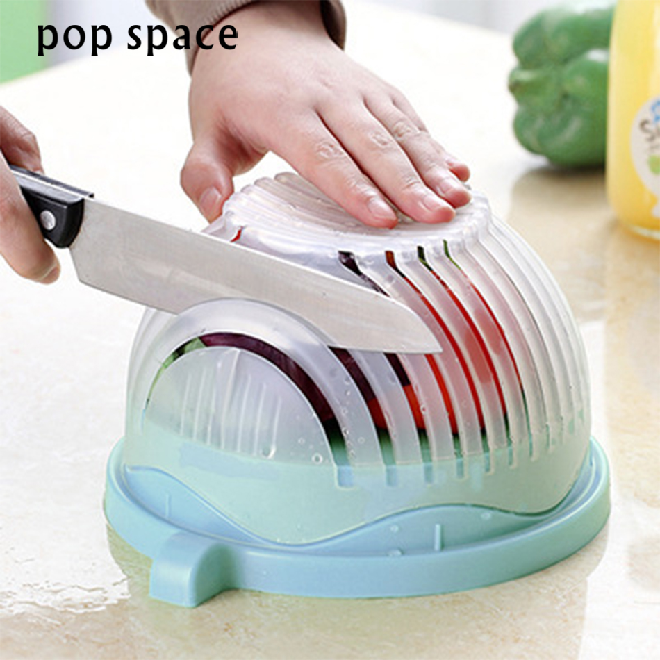 2018 New 60 Second Salad Cutter Bowl Kitchen Gadget Vegetable Chopper Washer And Cutter Quick Salad Maker Chopper Kitchen tool