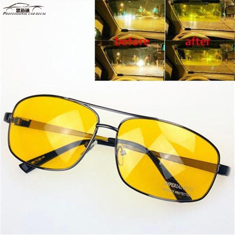 Metal Night Vison Glasses Uv400 Driving Aviator Anti-glared  Sunglass Sun Aviator Glasses Driver Night Driving Eyewear