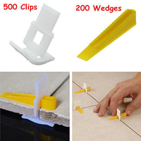 New 500 Clips With 200 Wedges Tile Leveler Spacers Lippage Tile Leveling System Tool For Construction