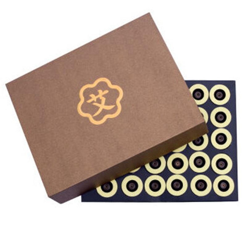 60pcs/box moxibustion tube paste self-stick Mini Moxa candle Self-adhesive acupuncture points massage sticker moxa health care by health 1220mg 60