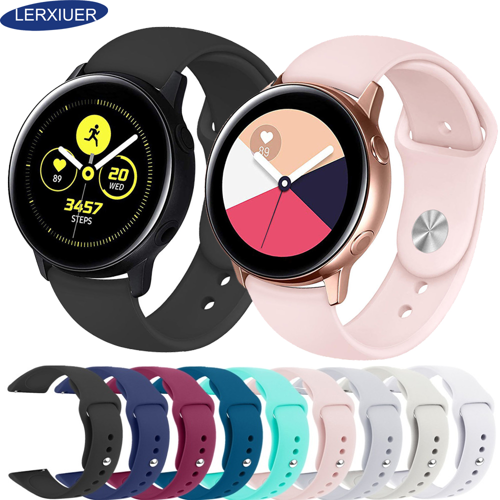 Lerxiuer Galaxy Watch Active 42mm 22mm Watch Strap Bracelet For Samsung Gear Sport S2 Amazfit Bip Smart Watch Silicone Correa