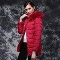 Mulheres Inverno Fino Casaco Com Capuz Para Baixo Casacos de Manga Longa Das Mulheres de Pato Para Baixo Casacos Plus Size Ladies Grosso Outerwear Manteau Femme