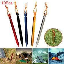Горячая 10 шт. палатка колышек для ногтей алюминиевый сплав кол с веревкой туристическое снаряжение для путешествий на открытом воздухе принадлежности MCK99