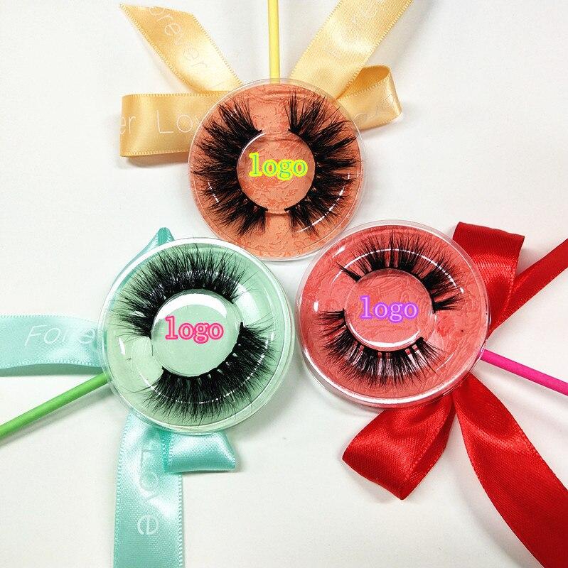 10 par quente estilo vison cilios com colorido pacote lollipop aceitar marca privada vison cilios de