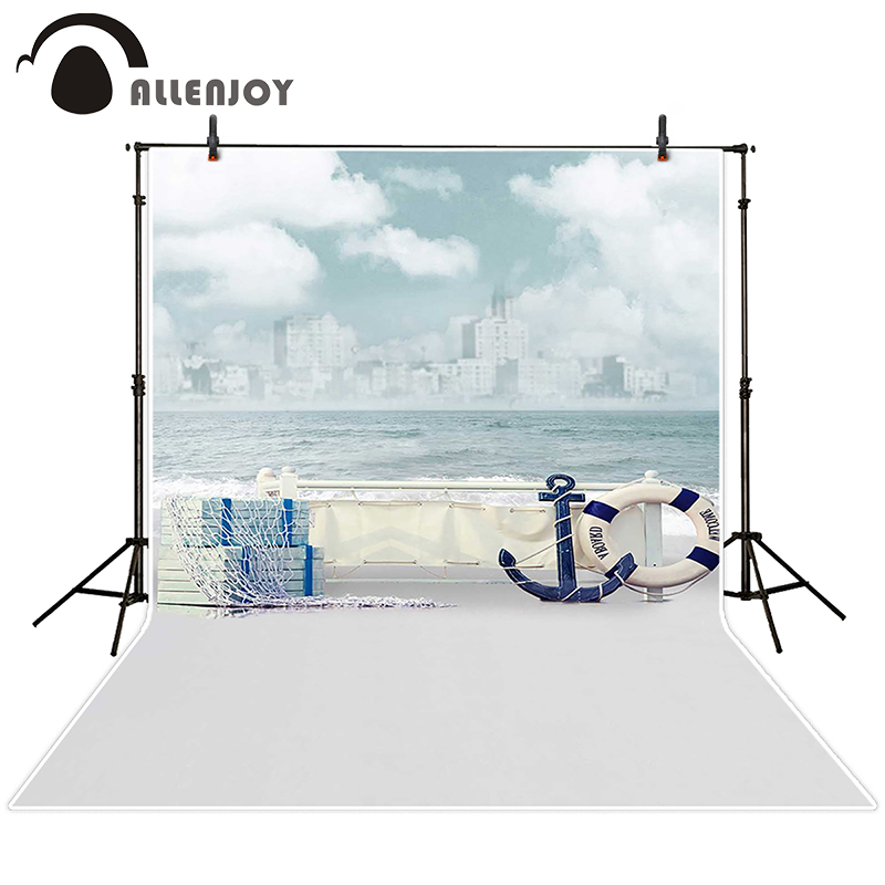 Allenjoy photographic background Jinhae sea boat sky waves backdrops princess kids vinyl photocall 8x12ft