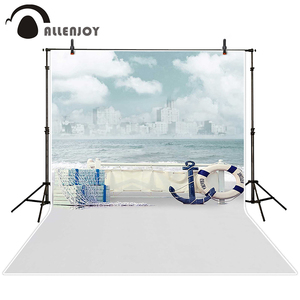 Image 2 - Allenjoy photographic background Jinhae sea boat sky waves backdrops princess kids vinyl photocall 8x12ft