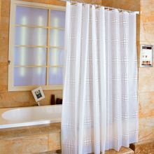 New Bathroom Shower Curtain White Ball PEVA Toilet Partition Curtain Waterproof Mouldproof Thickening waterproof mouldproof beach print shower curtain
