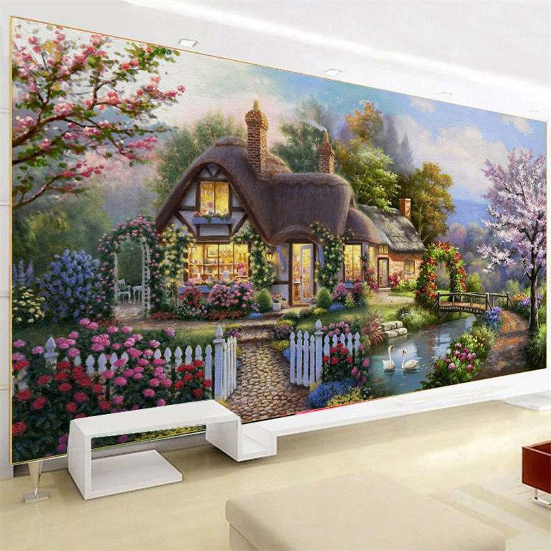 New Homes Bungalows: New Home Decoration Diy 5d Diamond Painting Garden