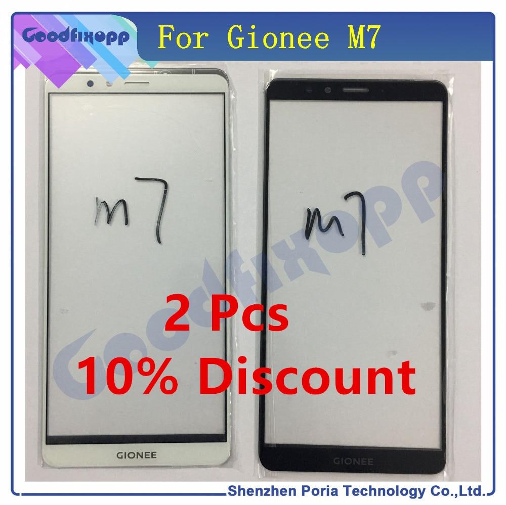 Pour Gionee M7 écran avant verre extérieur tactile panneau de couverture extérieur lentille téléphone pièces de rechange pour Gionee M7
