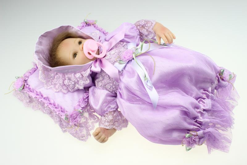 40cm Silicone reborn baby dolls lifelike play house bedtime toy for children girl babies newborn princess bebe doll birthday gif pp bedtime for baby dwf acct