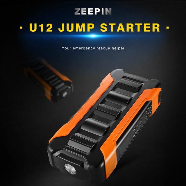 ZEEPIN U12 Multifuncional Carro Saltar Partida 18000 mAh 66.6WH 600A Dispositivo Inteligente E Aparelhos Carro Carregador Com LCD LED SOS luz